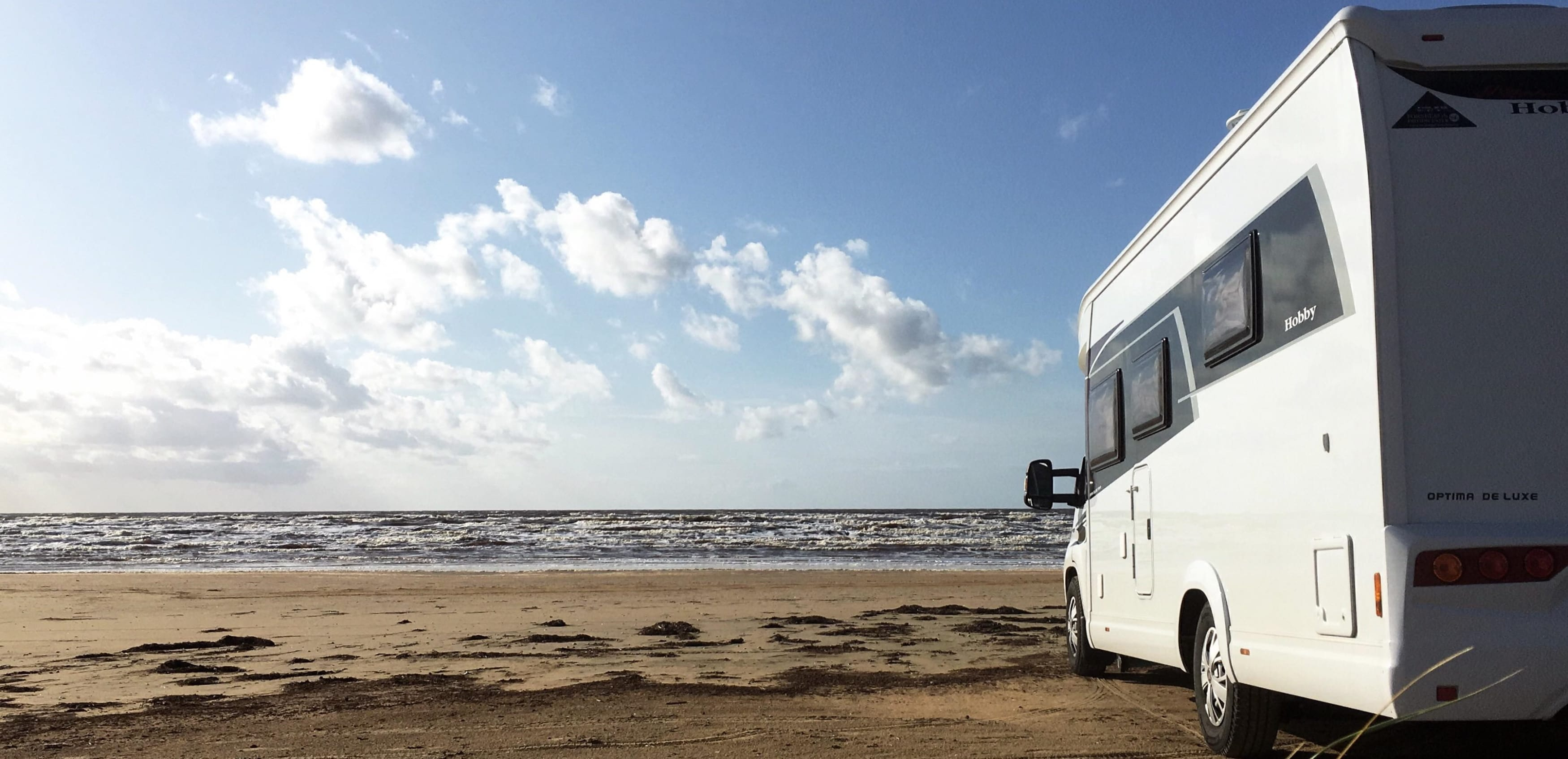 Uffes husbil på stranden
